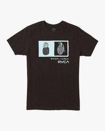 0 Pineapple Grenade T-Shirt Black M600EPGR RVCA