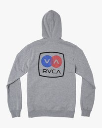 0 Branded Pack Zip-Up Hoodie Grey M601WRBR RVCA