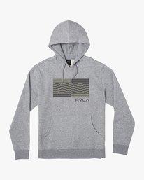 0 LINKED HOODIE Grey M6023RLI RVCA