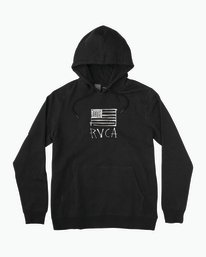 0 Horton Flag Fleece Hoodie Black M602PRHO RVCA