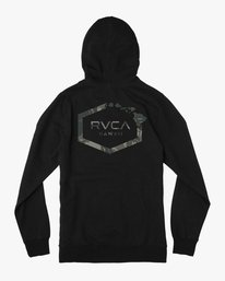 0 Island Hex Fleece Hoodie Black M602SRIS RVCA