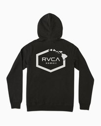 0 Island Hex Fleece Hoodie Black M602TRRV RVCA