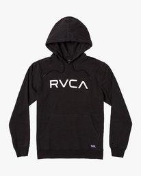 0 Big RVCA Hoodie Black M602VRBR RVCA