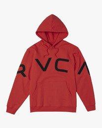 0 FAKE RVCA HOODIE Red M602VRFR RVCA