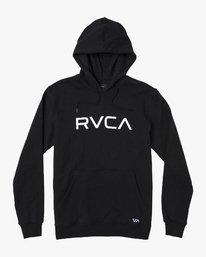 0 BIG RVCA HOODIE Black M602WRBR RVCA