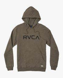 0 BIG RVCA HOODIE Green M602WRBR RVCA