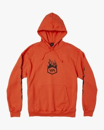 0 LOGO PACK HOODIE Orange M602WRLP RVCA