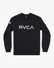 0 BIG RVCA CREW Black M608WRBR RVCA