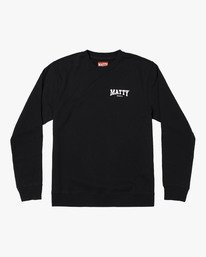 0 MATTYS CREW FLEECE SWEATSHIRT Black M608WRET RVCA