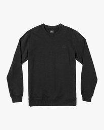 0 Eddy Crew Knit Sweatshirt Black M631VREC RVCA