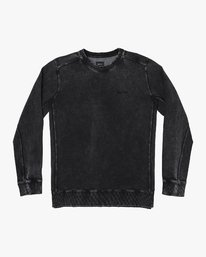 0 Upsal Distressed Fleece Sweatshirt Black M685WRUP RVCA
