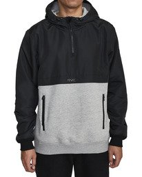 4 Camden Fleece Anorak Jacket Grey M689WRCM RVCA