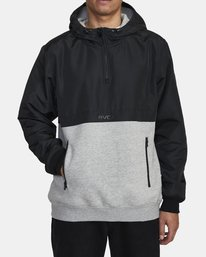 0 Camden Fleece Anorak Jacket Grey M689WRCM RVCA