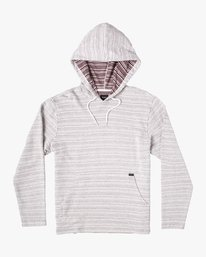0 HYPED STRIPE HOODIE Red M6952RPS RVCA