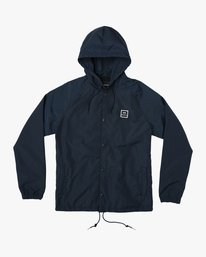0 VA Hooded Coaches Jacket Blue M701NRVA RVCA