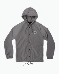 0 VA Hooded Coaches Jacket Grey M701NRVA RVCA
