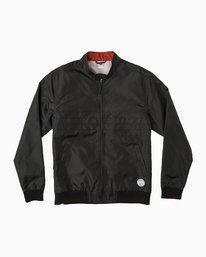 0 Campbell Brothers Windbreaker Jacket Black M703QRCA RVCA