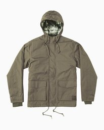 0 Puffer Parka Jacket Green M705QRPU RVCA