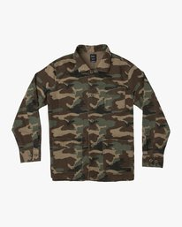 0 Couleur Chore Coat Shirt Brown M705TRCC RVCA