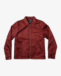 0 Supply Zip-Up Jacket Red M707VRSU RVCA