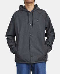 0 VA HOOD COACH II JACKET Brown M7083RVA RVCA