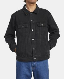 0 AMERICANA DENIM JACKET Black M7303RDJ RVCA