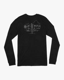 0 Hula Bones Long Sleeve T-Shirt Black M805HHBH RVCA