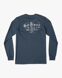 0 Hula Bones Long Sleeve T-Shirt Brown M805HHBH RVCA
