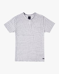 0 Exhauster Henley Knit Shirt White M901UREX RVCA