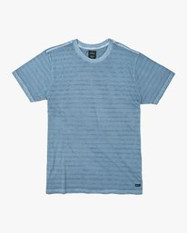 0 Saturation Stripe Knit T-Shirt Blue M901VRSS RVCA