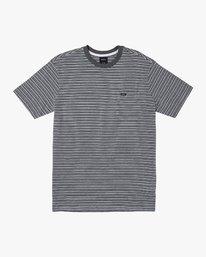 0 Mirage Striped Knit T-Shirt Blue M901WRMS RVCA