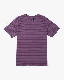 0 Shuffle Stripe Crew Knit Shirt Purple M902URSS RVCA