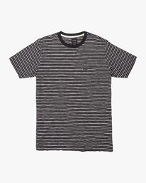 0 Foz Striped Crew Knit T-Shirt Black M902VRFS RVCA