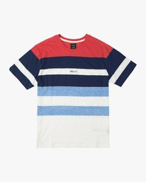0 Courtside Crew Knit Shirt Red M903URCC RVCA