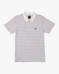 0 Raymond Striped Polo Shirt White M903WRRS RVCA
