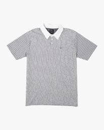 0 FREEMAN SHORT SLEEVE KNIT POLO White M9043RFP RVCA