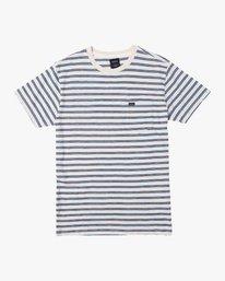 0 Vincent Stripe Crew Knit Shirt Silver M904URVS RVCA