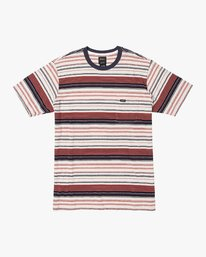 0 Deadbeat Stripe Knit T-Shirt Green M904VRDS RVCA
