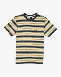 0 DAVIS STRIPE SHORT SLEEVE Knit Tee Yellow M9052RDS RVCA