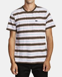 0 DAVIS STRIPE SHORT SLEEVE T-SHIRT Blue M9052RDS RVCA