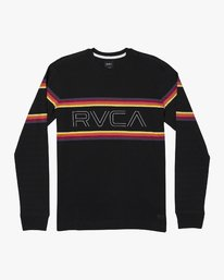 0 VHS Long Sleeve Knit T-Shirt Black M905WRVL RVCA
