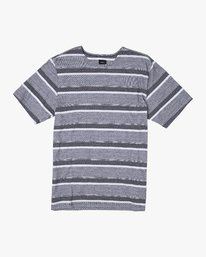 0 REPEATER SS STRIPE T-SHIRT Black M9062RRS RVCA