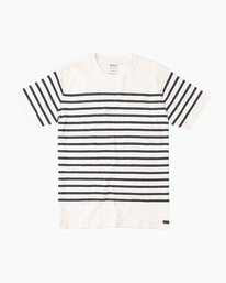 0 Dean Stripe Knit T-Shirt White M906QRDS RVCA