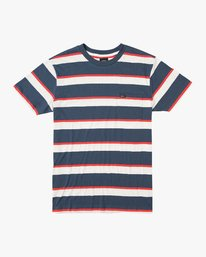 0 Fjords Stripe Knit Shirt Blue M906URFS RVCA