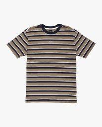 0 Curtis Striped Knit T-Shirt Yellow M908WRCS RVCA