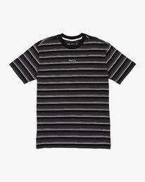 0 Curtis Striped Knit T-Shirt Black M908WRCS RVCA