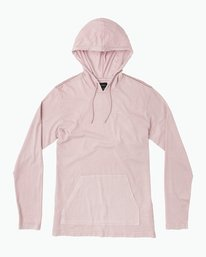 0 PTC PIGMENT HOODED LONG SLEEVE TEE Pink M915PRPH RVCA