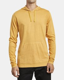 0 PTC PIGMENT HOODED LONG SLEEVE TEE Beige M915PRPH RVCA