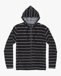 0 Super Marle Zip Knit Hoodie Black M951VRSM RVCA