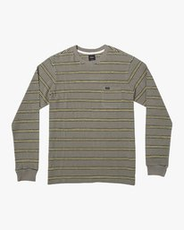 0 BLOOM PIQUE LONG SLEEVE KNIT TEE Green M9523RBP RVCA